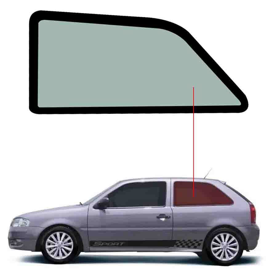 Vidro Janela Fixa Esquerda Volkswagen Gol 94/14 Tritemp