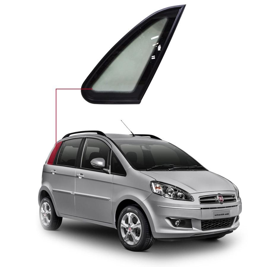 Vidro Óculo Fixo Dianteiro Esquerdo Fiat Idea 04/16 Importadora
