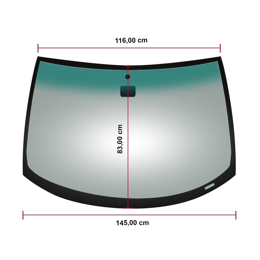 Vidro Parabrisa Com Sensor Bmw Série 3 99/04 Fuyao