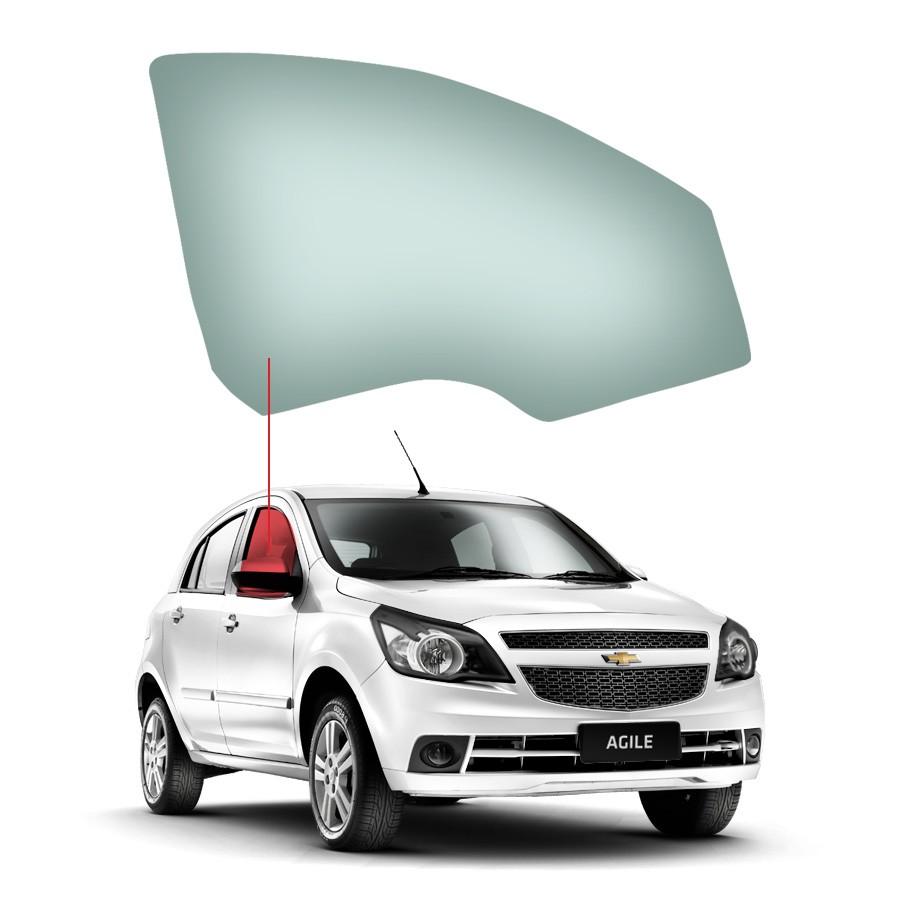 Vidro Porta Dianteira Direita Chevrolet Agile 09/16 / Montana 10/20 Glasstech