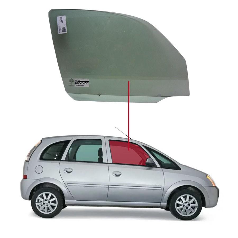 Vidro Porta Dianteira Direita Chevrolet Meriva 02/12 Fanavid