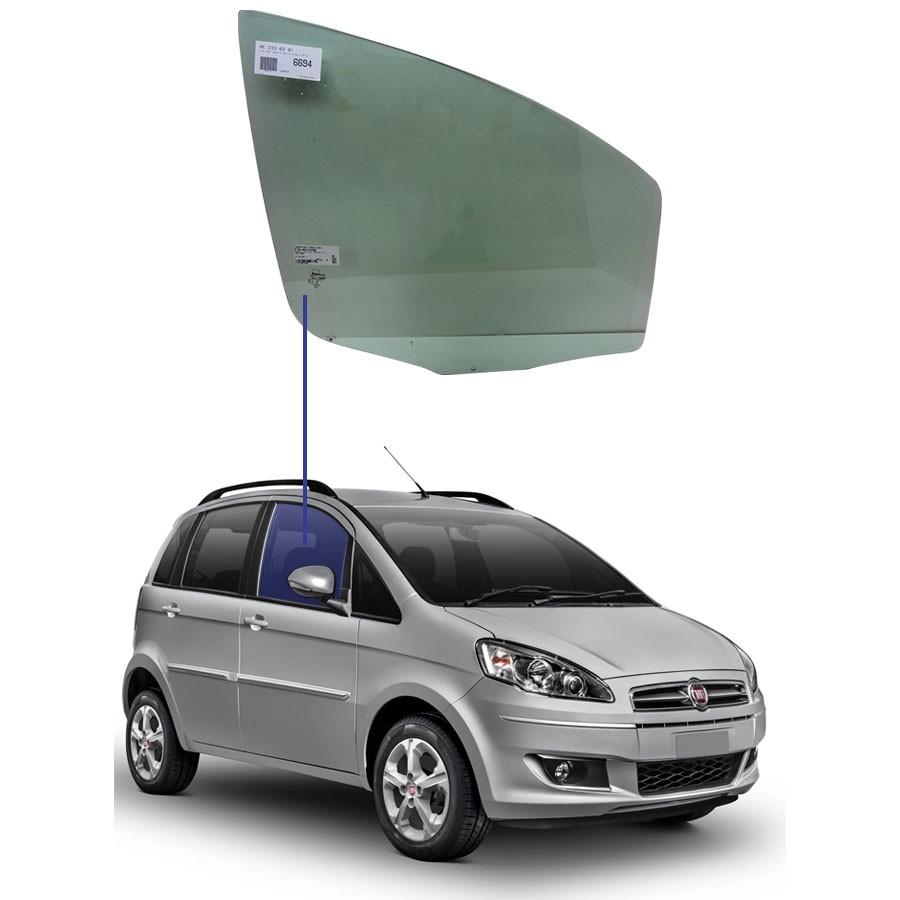 Vidro Porta Dianteira Direita Fiat Idea 05/16 Glasstech