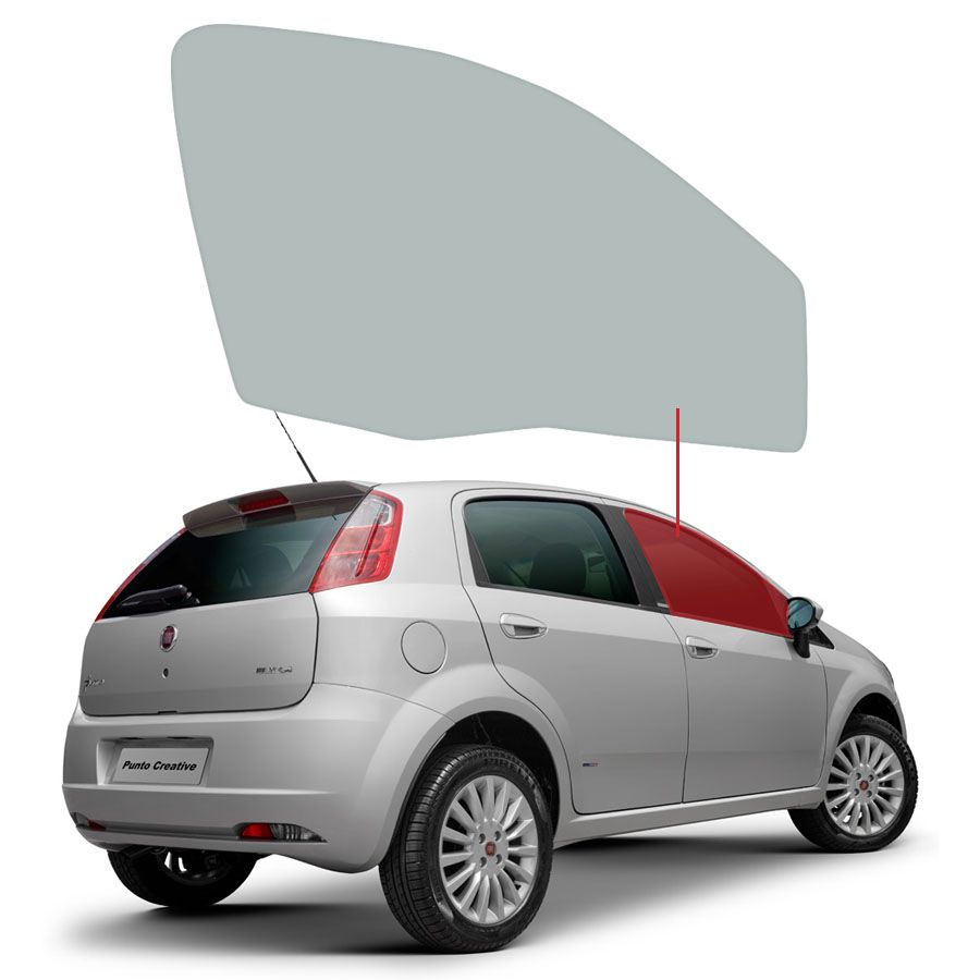 Vidro Porta Dianteira Direita Fiat Punto 07/17 / Linea 08/16 Tritemp
