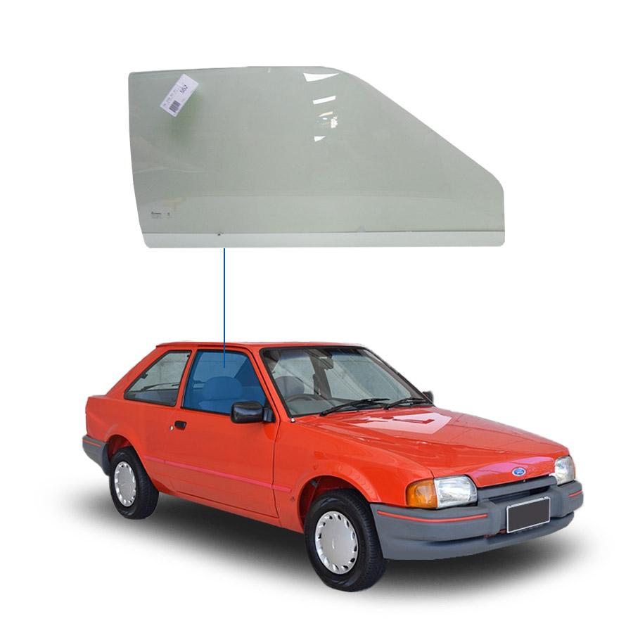 Vidro Porta Dianteira Direita Ford Escort Hobby 83/96 / Verona 90/93 / Apollo 90/92 Tritemp