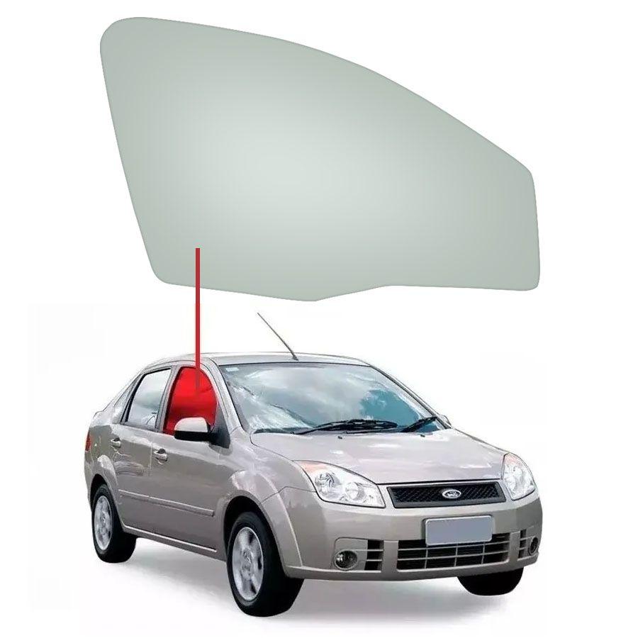 Vidro Porta Dianteira Direita Ford Fiesta 03/14 Tritemp