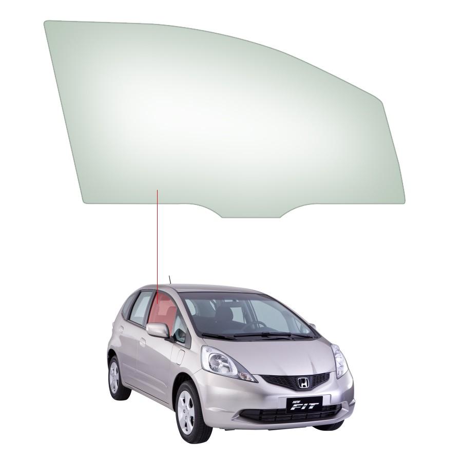 Vidro Porta Dianteira Direita Honda Fit 03/08 Tritemp