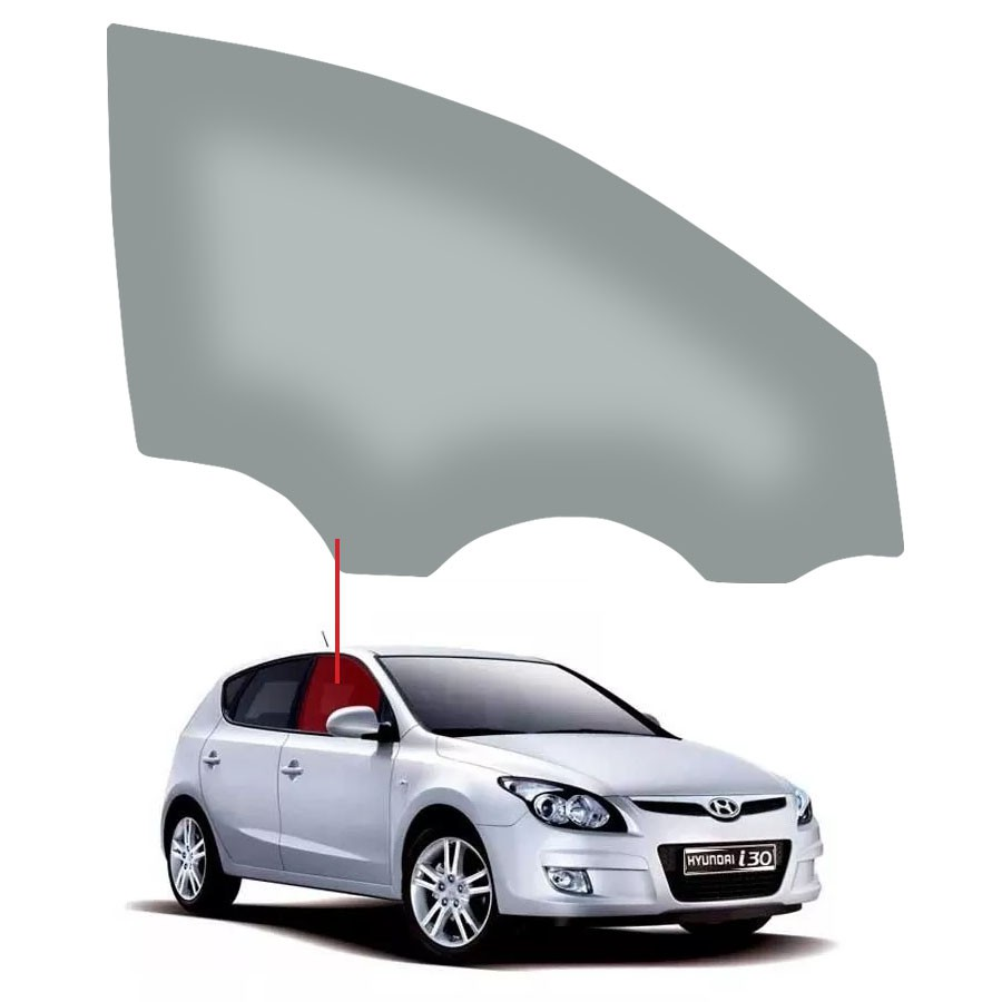 Vidro Porta Dianteira Direita Hyundai I30 07/12 Fanavid