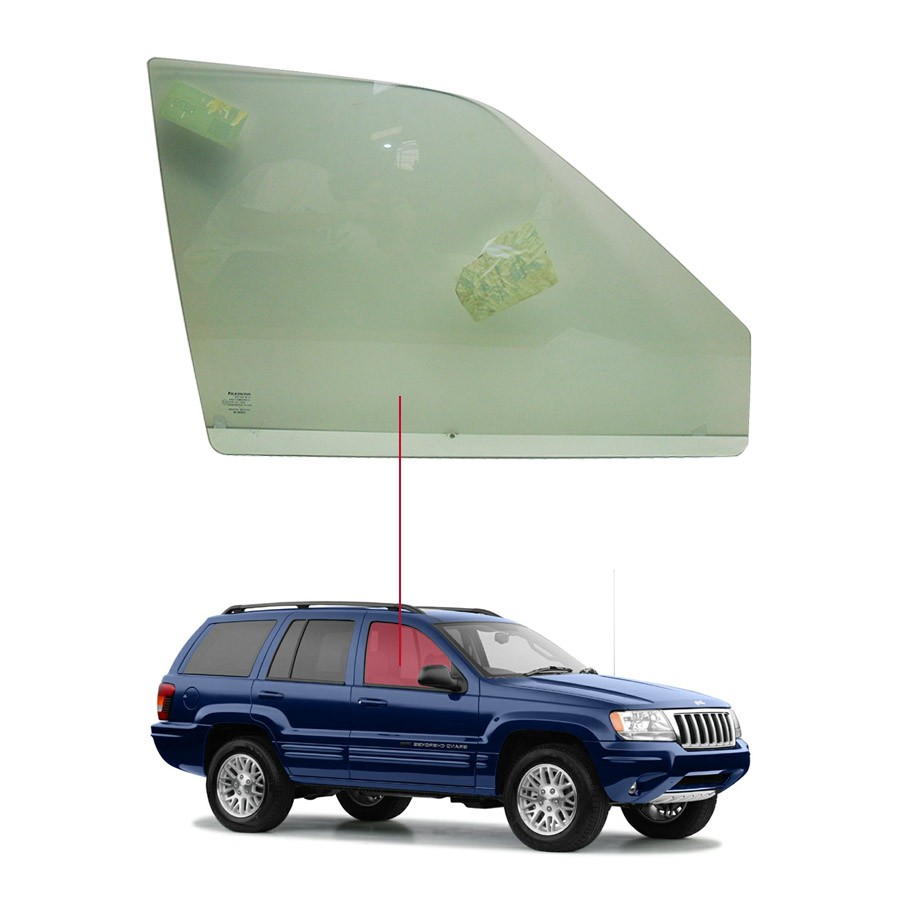 Vidro Porta Dianteira Direita Jeep Grand Cherokee 99/04 / Jeep Laredo 99/04  Pilkington