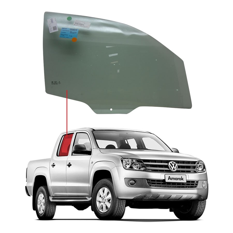 Vidro Porta Dianteira Direita Volkswagen Amarok 10/16 Fuyao
