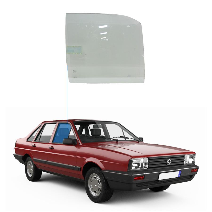 Vidro Porta Dianteira Direita Volkswagen Santana 83/97 / Versailles 83/97 / Royale 92/98 Glasstech
