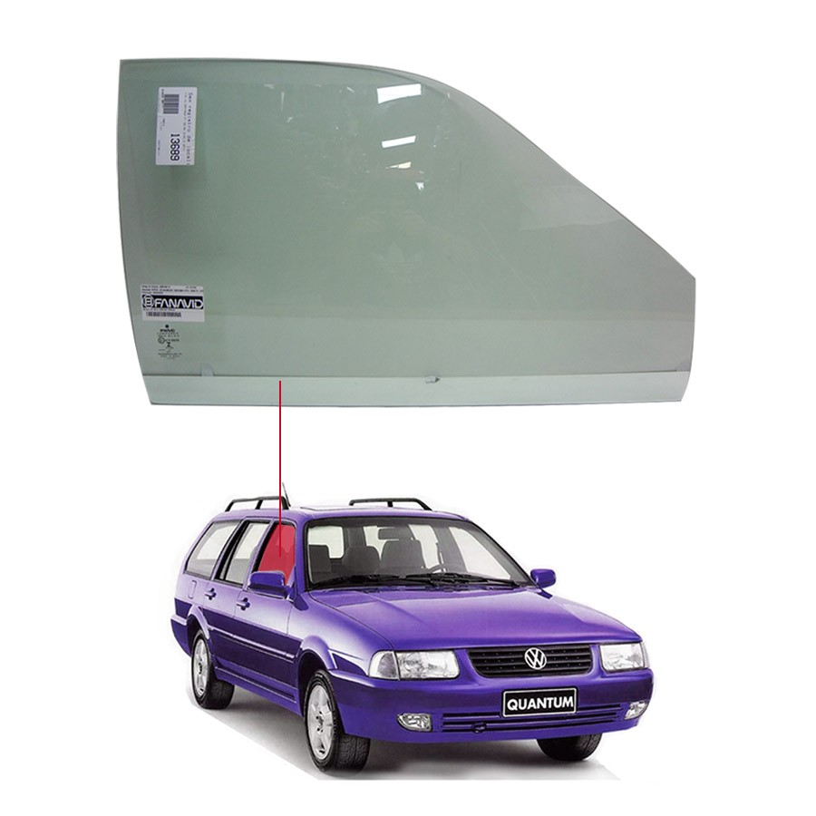 Vidro Porta Dianteira Direita Volkswagen Santana 98/06 / Quantum 98/03 Fanavid