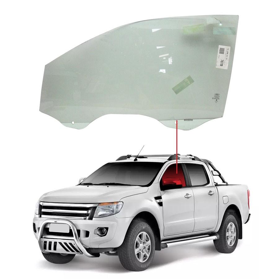 Vidro Porta Dianteira Esquerda Ford Ranger 12/15 Glasstech