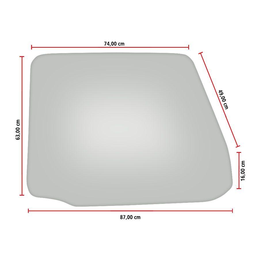 Vidro Porta Direita e Esquerda Scania T112 80/00 Vetroex
