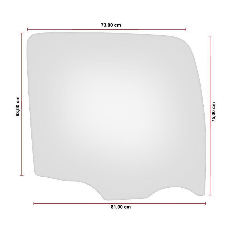 Vidro Porta Direito Volkswagen Constellation 06/16 Glasstech