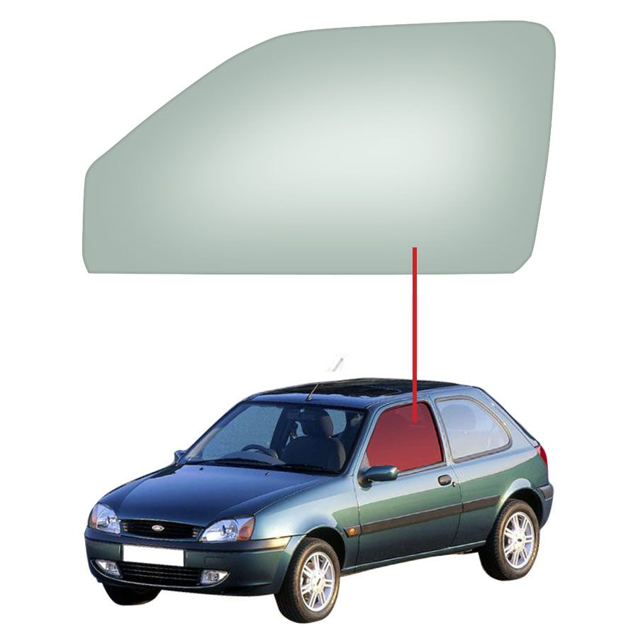 Vidro Porta Dianteira Esquerda Ford Fiesta  96/06 / Courier 96/15 Tritemp