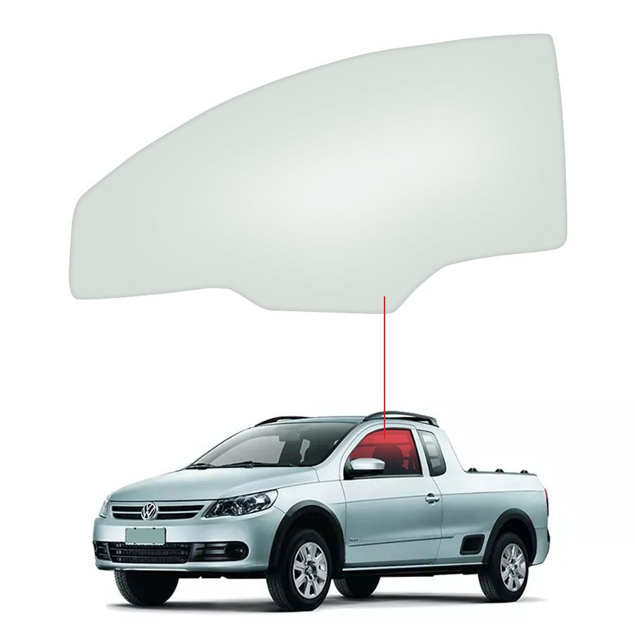 Vidro Porta Dianteira Esquerda Volkswagen Saveiro 08/13 / Gol 12/16 Glasstech