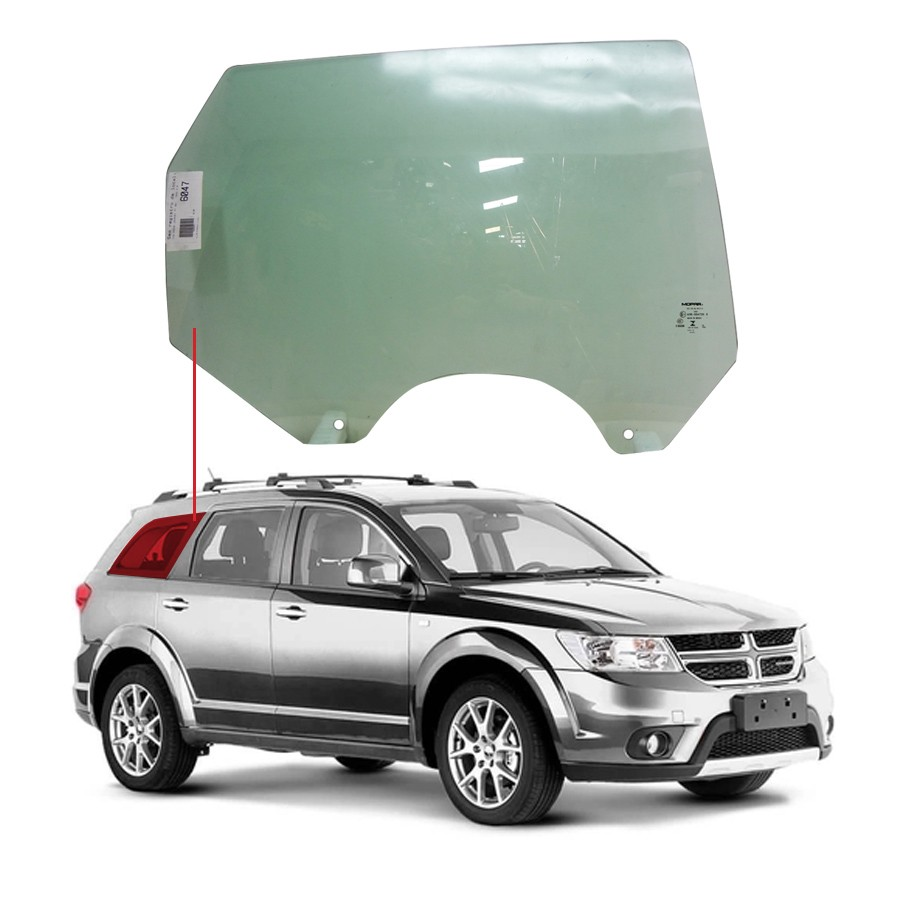 Vidro Porta Traseira Direita Dodge Journey 08/19 / Fiat Freemont 11/16 Importadora