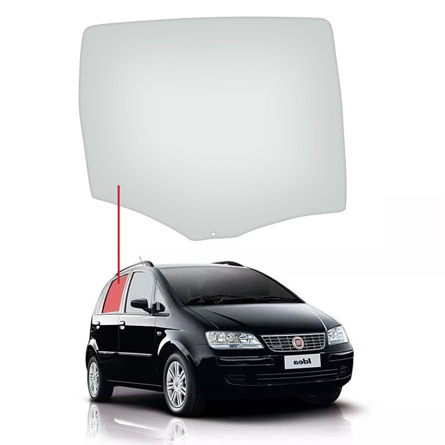 Vidro Porta Traseira Direita Fiat Idea 05/16 Saint Gobain