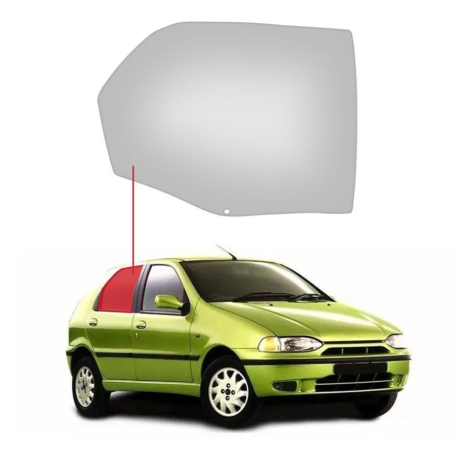 Vidro Porta Traseira Direita Fiat Palio 96/18 / Weekend 96/19 / Siena 98/11 Tritemp