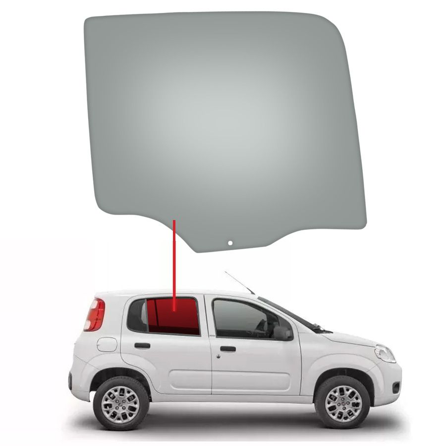 Vidro Porta Traseira Direita Fiat Uno 10/13 Glasstech