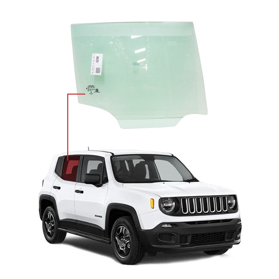 Vidro Porta Traseira Direita Jeep Renegade 15/20 Importadora