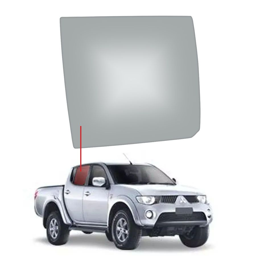 Vidro Porta Traseira Direita Mitsubishi L200 87/04/  GL / GLS Sport Thermoglass