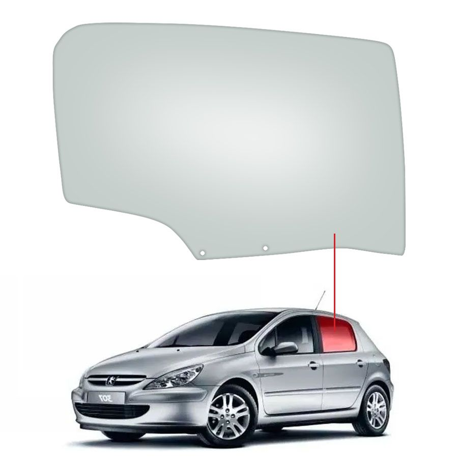 Vidro Porta Traseira Direita Peugeot 307 01/12 Fanavid