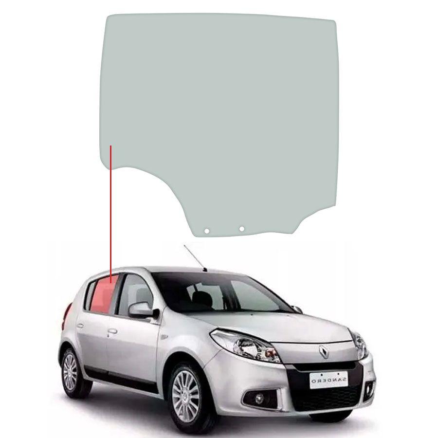 Vidro Porta Traseira Direita Renault Sandero 07/14 Tritemp