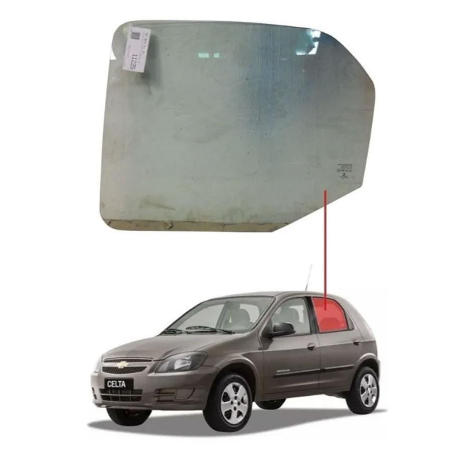 Vidro Porta Traseira Esquerda Chevrolet Celta 00/15 / Prisma 06/12 Saint Gobain