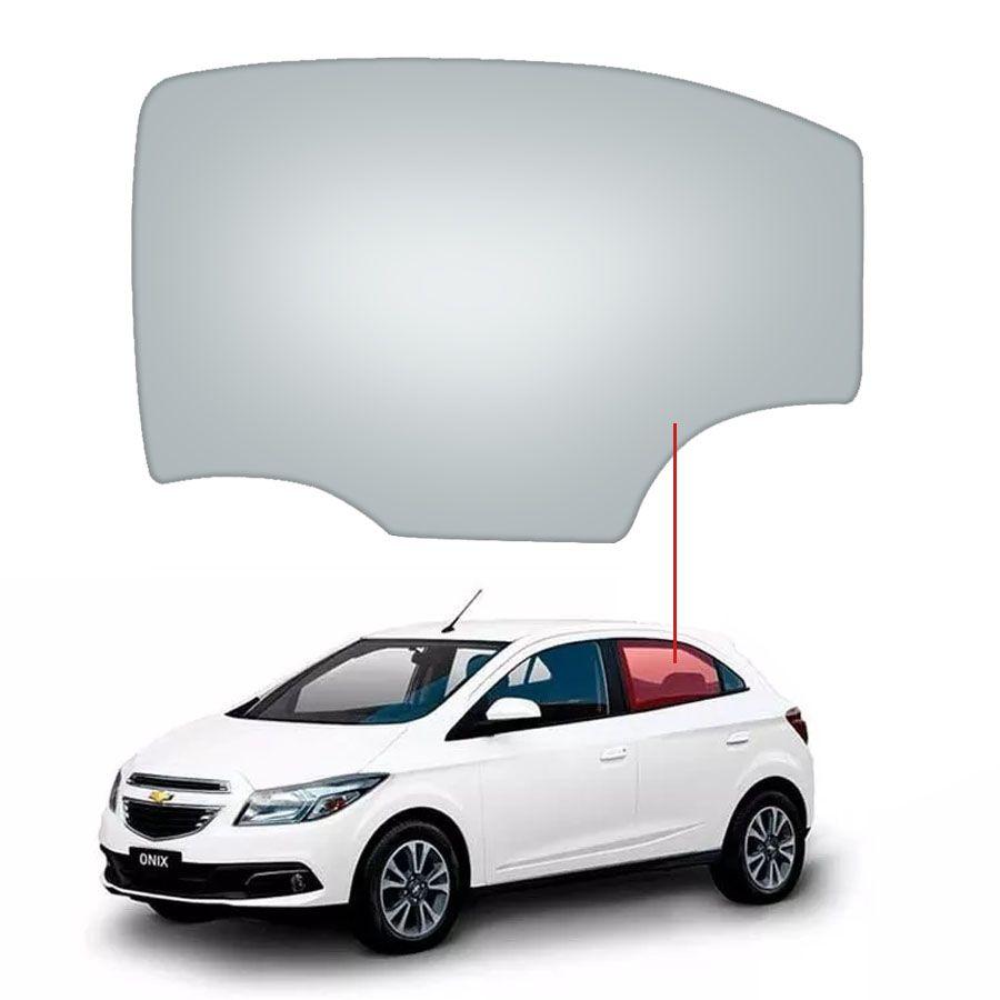 Vidro Porta Traseira Esquerda Chevrolet Onix 12/20 / Prisma 13/20 Glasstech