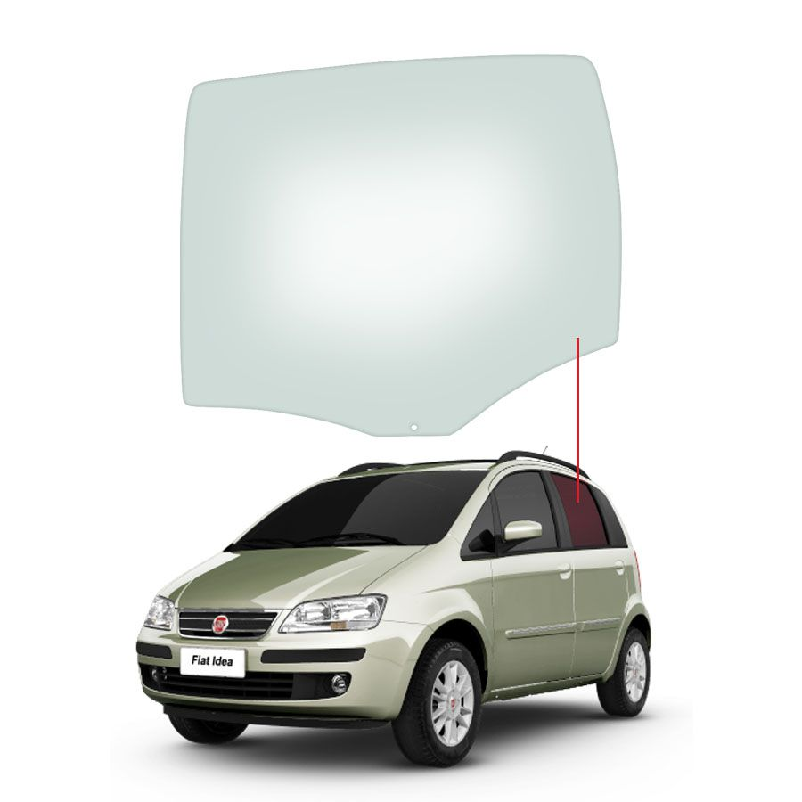 Vidro Porta Traseira Esquerda Fiat Idea 05/16 Saint Gobain