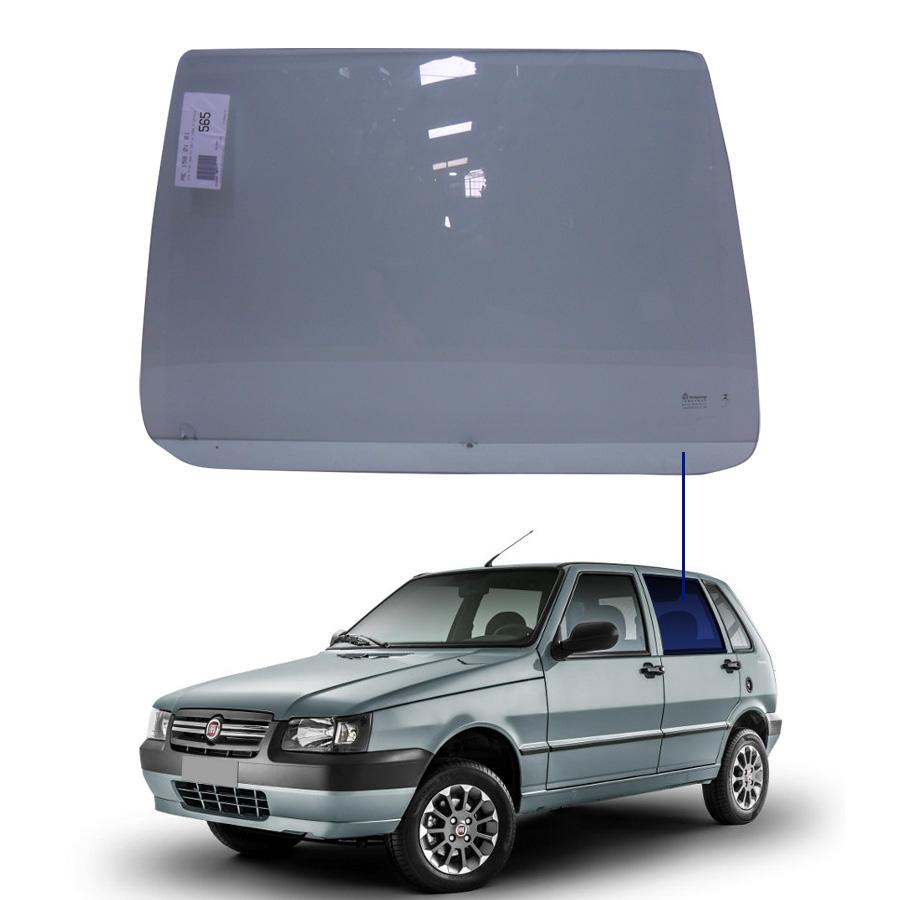 Vidro Porta Traseira Esquerda Fiat Uno 84/14 / Elba 84/96 / Prêmio 84/94 Tritemp