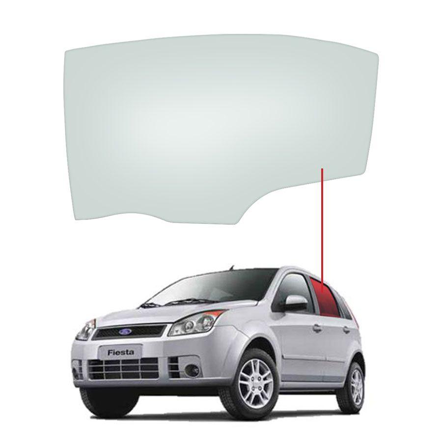 Vidro Porta Traseira Esquerda Ford Fiesta 03/14 Tritemp