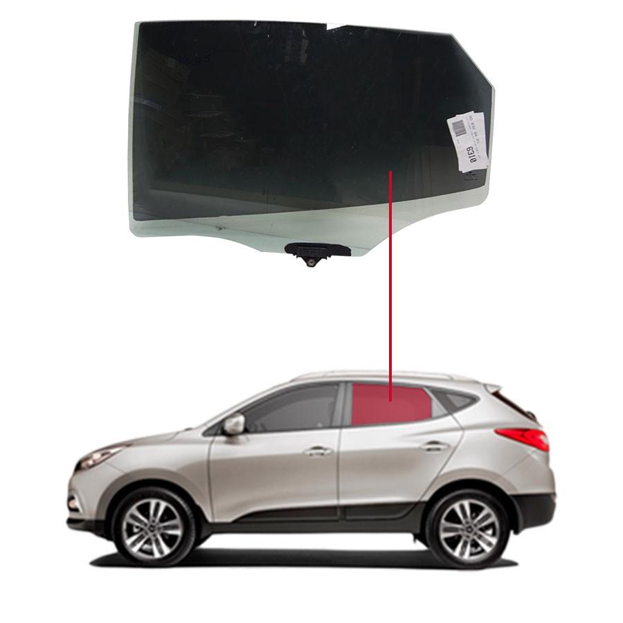 Vidro Porta Traseira Esquerda Hyundai Ix35 10/... Importadora