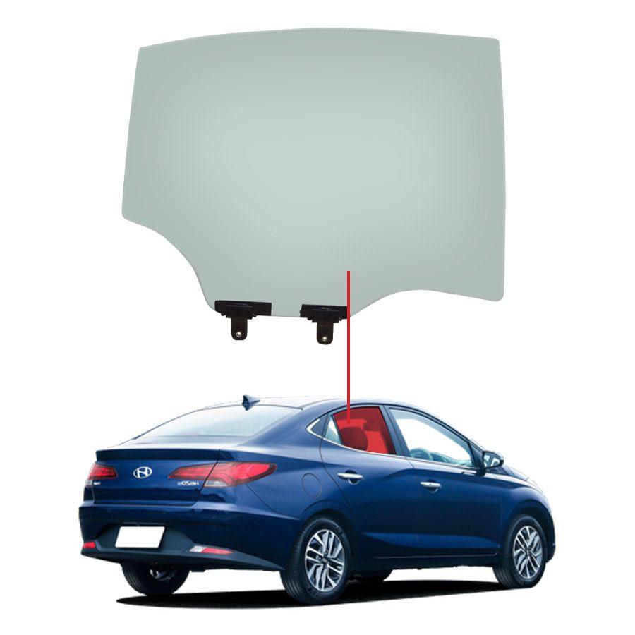 Vidro Porta Traseiro Direito Sedan Hyundai HB20 20 AGC