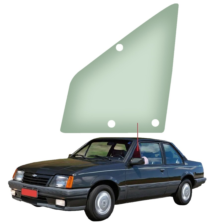 Vidro Quebra Vento Esquerdo Chevrolet Monza 82/88 Vetroex