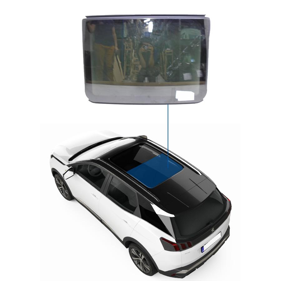 Vidro Teto Solar Fixo Peugeot 3008 09/17 Importadora