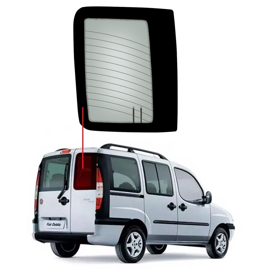Vidro Traseiro Vigia Direito Fiat Doblo 01/20 Glasstech