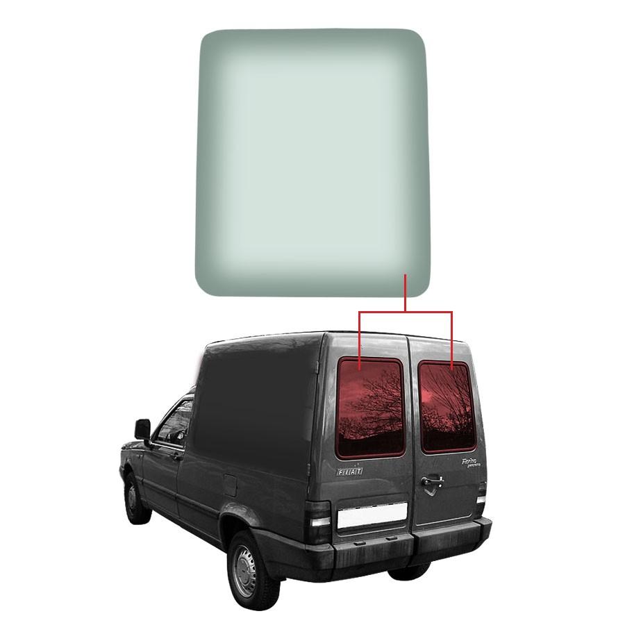 Vidro Traseiro Vigia Fiat Fiorino 88/13 Vetroex