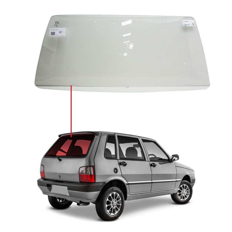 Vidro Traseiro Vigia Fiat Uno 85/07 Glasstech