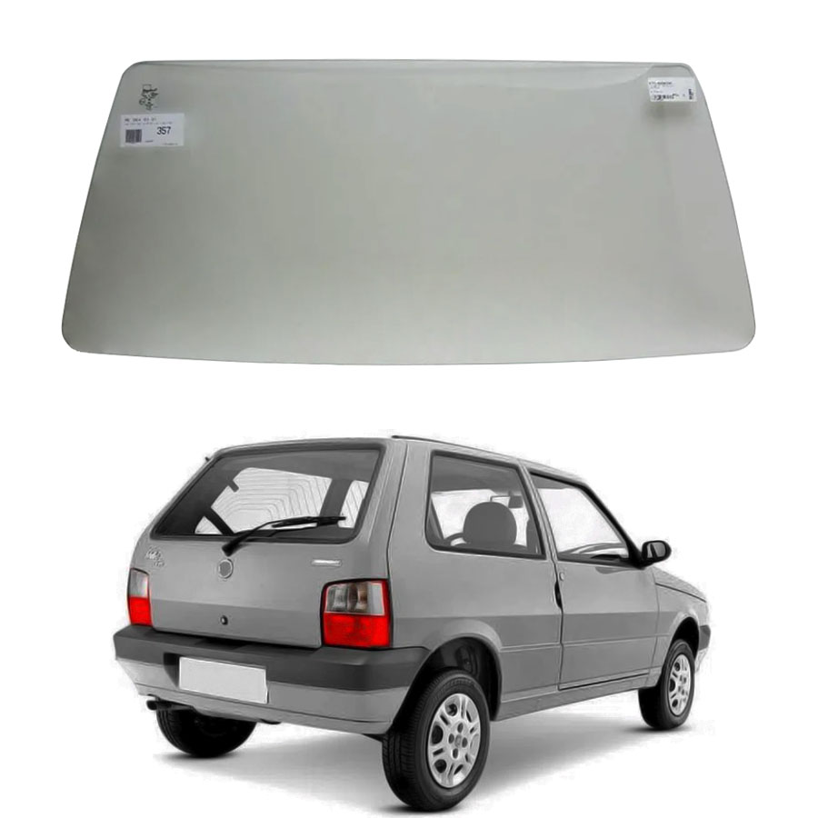 Vidro Traseiro Vigia Fiat Uno 1985 a 2007 Glasstech