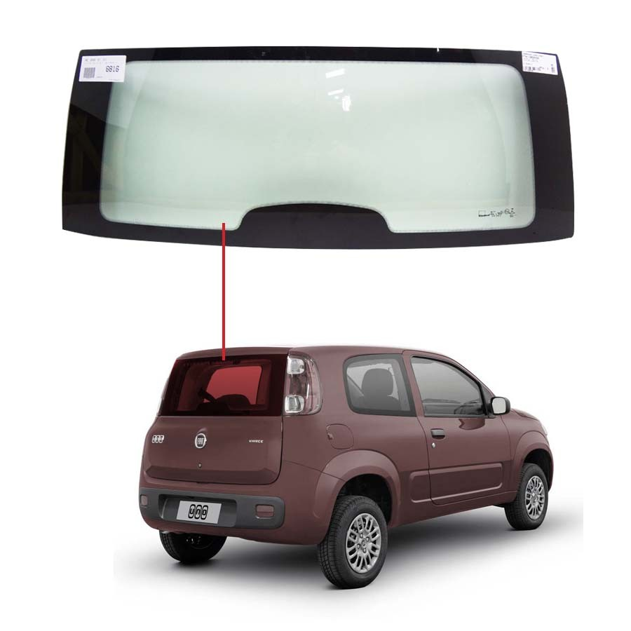 Vidro Traseiro Vigia Fiat Uno Vivace 10/16 Glasstech
