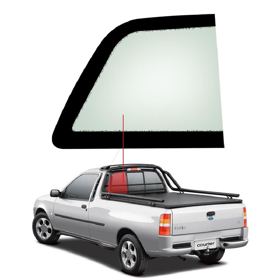 Vidro Traseiro Vigia Fixo Esquerdo Ford Courier 99/13 Vetroex