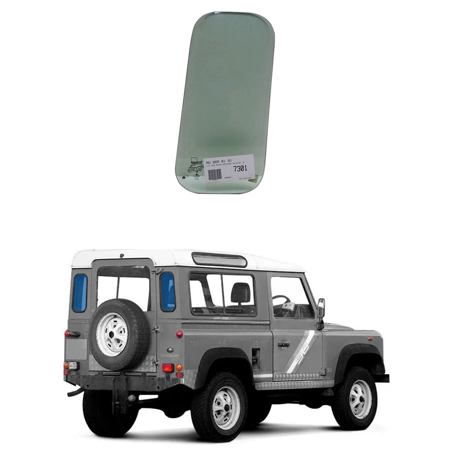 Vidro Traseiro Vigia Land Rover Defender 1993 a 2001 Glasstech