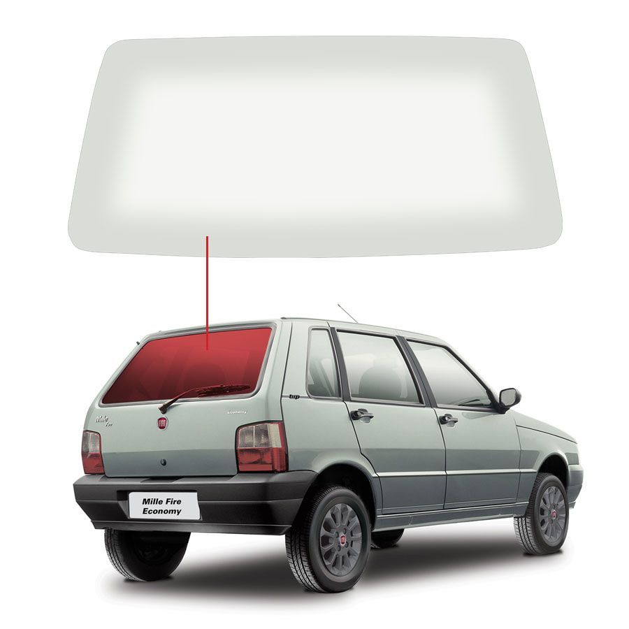 Vidro Traseiro Vigia  Fiat Uno 85/07 Tritemp