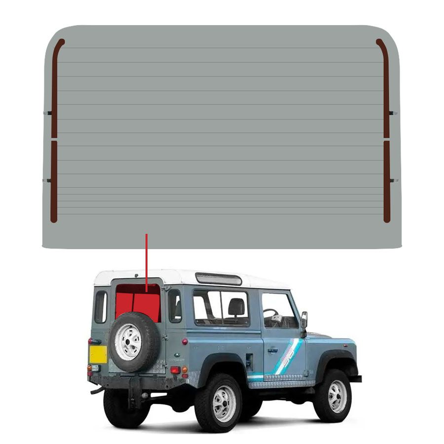 Vidro Traseiro Vigia Land Rover Range Rover Defender 93/01 Glasstech
