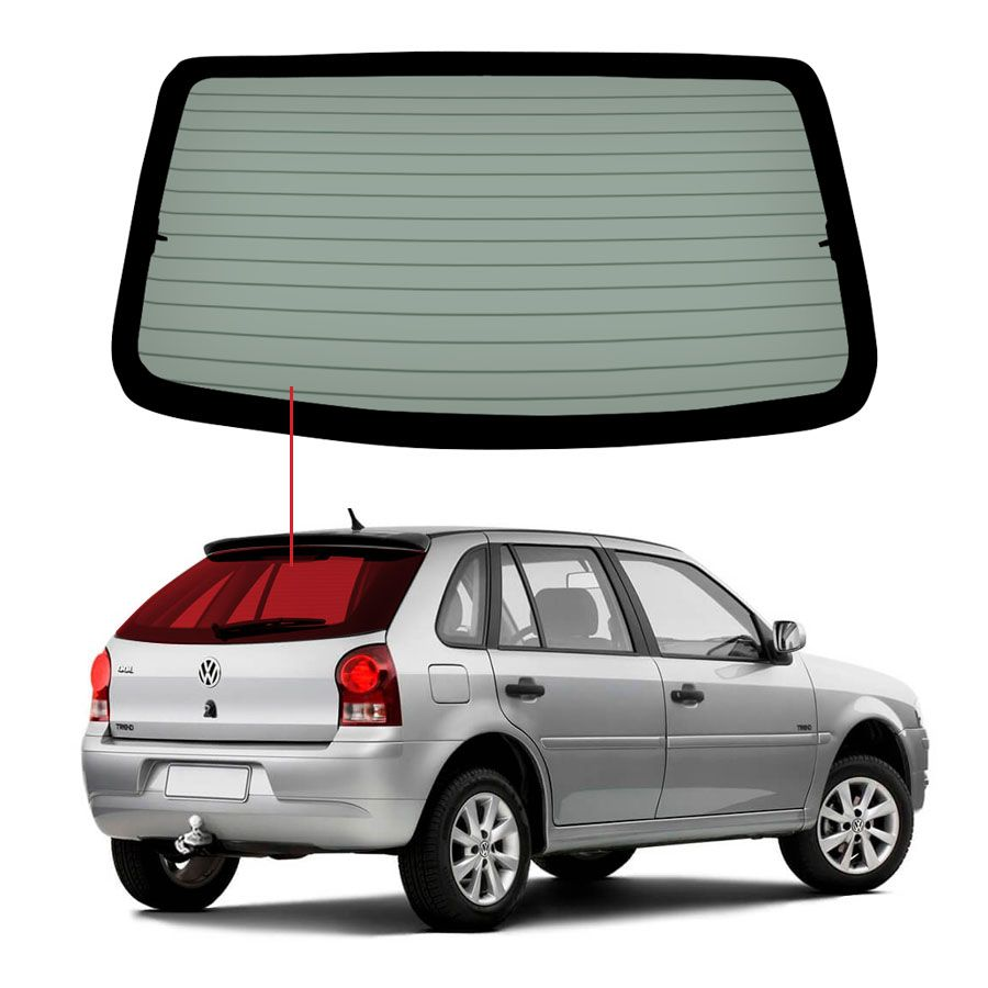 Vidro Traseiro Vigia Volkswagen Gol  00/08 Tritemp