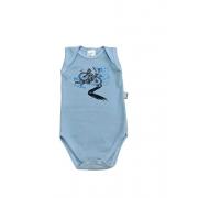 Body Bebê Ciclista - Regata Estampado - 100% Algodão Suedine - 3 à 7 Meses - Mafessoni