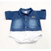 Body Camiseta - Meia Manga C/ Botões - 01 peça - 100% algodão - Yala Baby