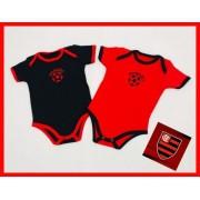 Body Meia Manga Flamengo - Suedine - 100% Algodão
